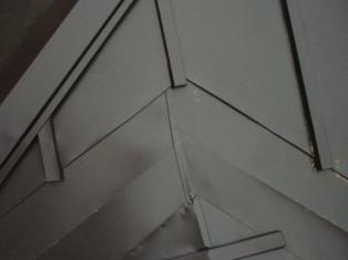 屋根のつなぎ目の部分